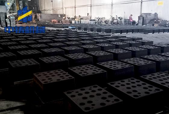 浙江嵊州康力机械水平造型机使用现场