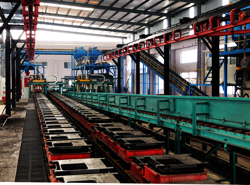 铸造造型生产线,黏土砂造型生产线,水平全自动造型线,|Casting molding production line, clay sand molding production line, horizontal automatic molding line